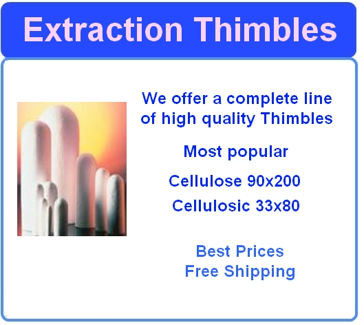 Extraction thimbles Cellulose Format: 33 x 80 mm (Inner diameter x Height)  -       7100-3380   1229C65 - WCT5951 - Great Prices