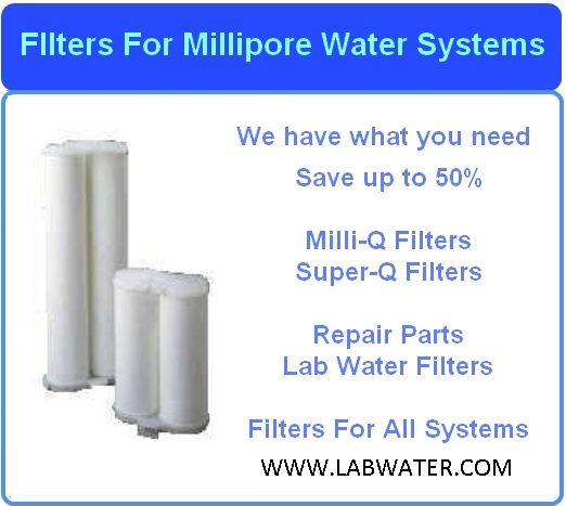 Filters for Millipore Milli-RO 6, 10, 12 and plus model Reverse Osmosis systems