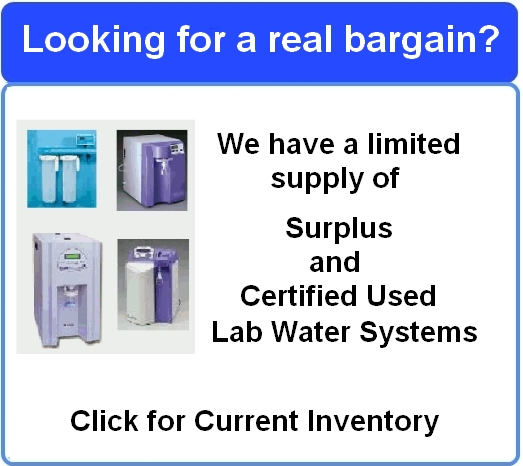 Certified - Used Lab Water Polishing Systems